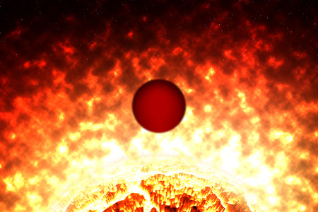 burned: Red Planet was burned by explosion sun on cosmos