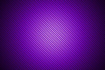 fiber: spotlight on purple carbon fiber background. Stock Photo