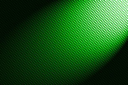 spotlight on red green fiber background.