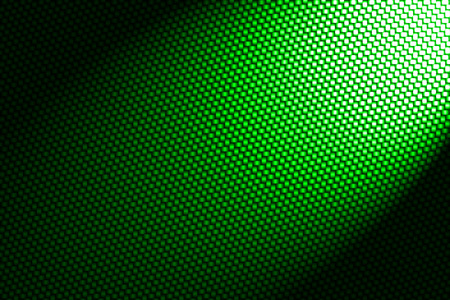 spotlight on red green fiber background.