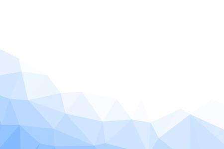 幾何学的なしわくちゃ三角形低ポリ折り紙スタイル グラデーション図グラフィックの背景を青します。 写真素材
