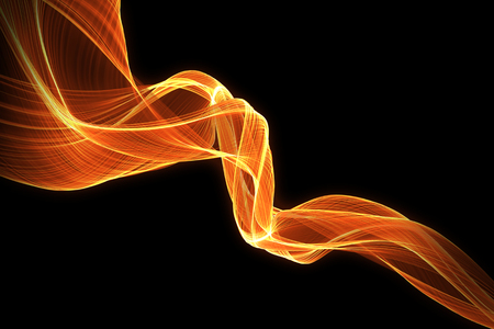 lighting effect: red glow energy wave. lighting effect abstract background with copy space for your design. Stock Photo