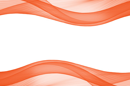 lighting effect: orange glow energy wave. lighting effect abstract border with copy space for your design.
