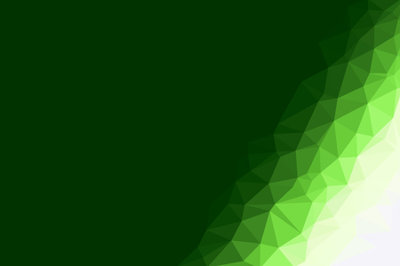 green geometric rumpled triangular low poly origami style gradient illustration graphic background. Zdjęcie Seryjne - 52175491