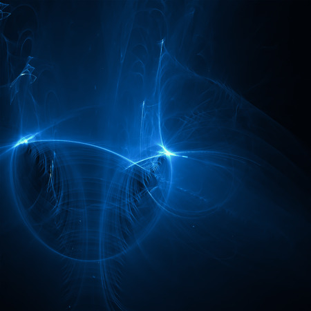 horror: blue glow energy wave. lighting effect abstract background. This image is suitable for any purpose, such as science, fantastic, sci-fi, horror, supernatural and etc. Stock Photo