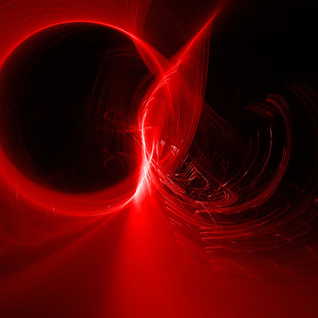 scifi: red glow energy wave. lighting effect abstract background. This image is suitable for any purpose, such as science, fantastic, sci-fi, horror, supernatural and etc. Stock Photo