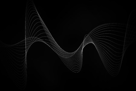 smooth: white line smooth wave  on black background