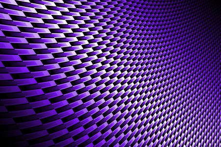 kevlar: purple curve carbon fiber on the black shadow. background and texture. Stock Photo