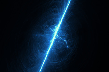 supernatural: blue glow energy wave. lighting effect abstract background. This image is suitable for any purpose, such as science, fantastic, sci-fi, horror, supernatural and etc. Stock Photo