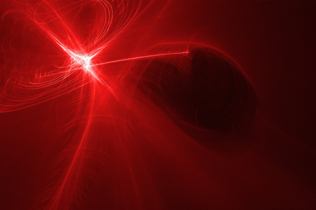 supernatural: red glow energy wave. lighting effect abstract background. This image is suitable for any purpose, such as science, fantastic, sci-fi, horror, supernatural and etc. Stock Photo