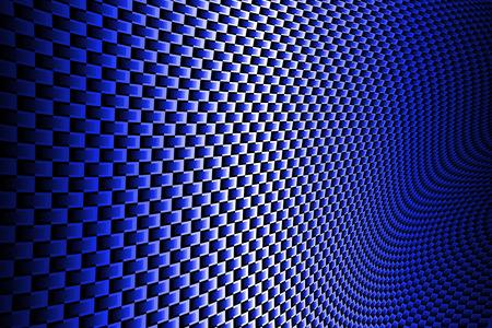 黒い影に青の曲線炭素繊維。背景のテクスチャ。 写真素材