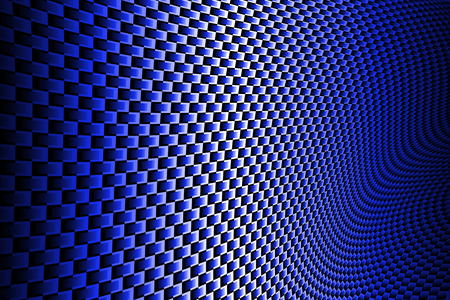 dark blue: blue curve carbon fiber on the black shadow. background and texture. Stock Photo