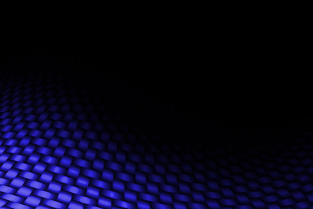 blue background texture: blue curve carbon fiber on the black shadow. background and texture. Stock Photo