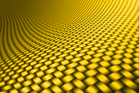 kevlar: yellow curve carbon fiber on the black shadow. car accessories.  background and texture.
