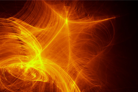 supernatural: yellow glow energy wave. lighting effect abstract background. This image is suitable for any purpose, such as science, fantastic, sci-fi, horror, supernatural and etc. Stock Photo