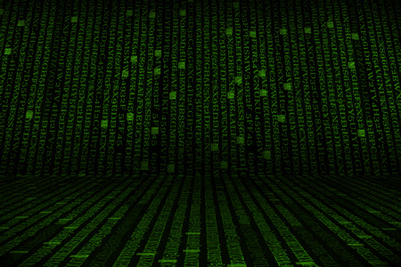 hexadecimal: The green alphanumeric code background.  This picture suitable for business and technology use.