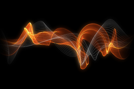 lighting effect: red glow energy wave with white line. lighting effect abstract background with copy space for your design. Stock Photo