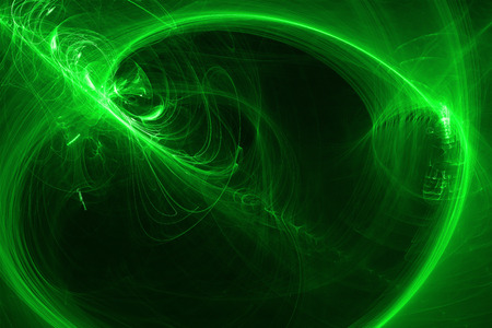 supernatural: green glow energy wave. lighting effect abstract background. This image is suitable for any purpose, such as science, fantastic, sci-fi, horror, supernatural and etc. Stock Photo
