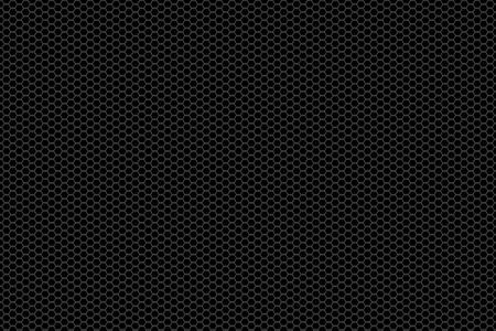 Schwarz und Silber Hintergrund Textur Metallgitter.