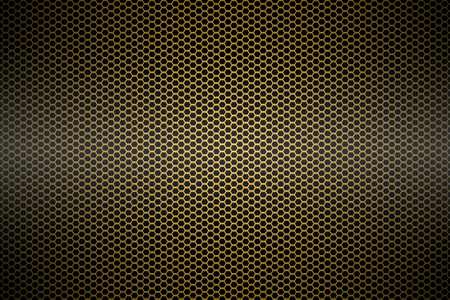 mesh: gold metallic mesh background texture. Stock Photo