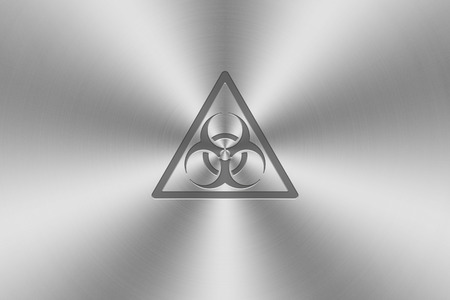 inlay: bio hazard icon inlay on chrome aluminium texture.