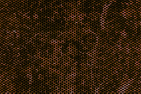 black metallic background: black and rust metallic mesh background texture. Stock Photo