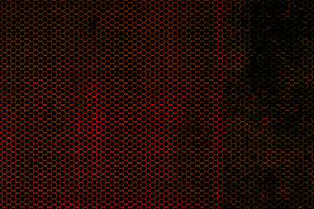 rust red: black, red and rust metallic mesh background texture.