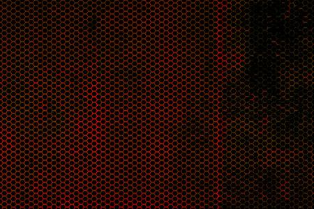 Schwarz, Rot und Rost Metallgitter Hintergrund Textur. Standard-Bild