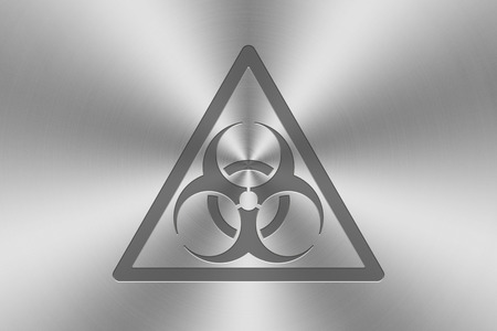 inlay: biohazard icon inlay on chrome aluminium texture.