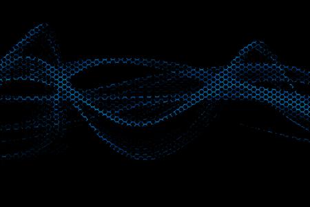 blue metallic background: blue metallic mesh and light energy digital background texture