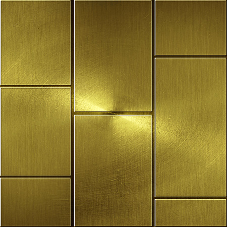 brass plate: shiny gold wall. golden background and texture. 3d illustration.