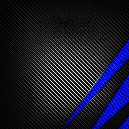 blue and black carbon fiber background. 3d illustration material design. racing style.