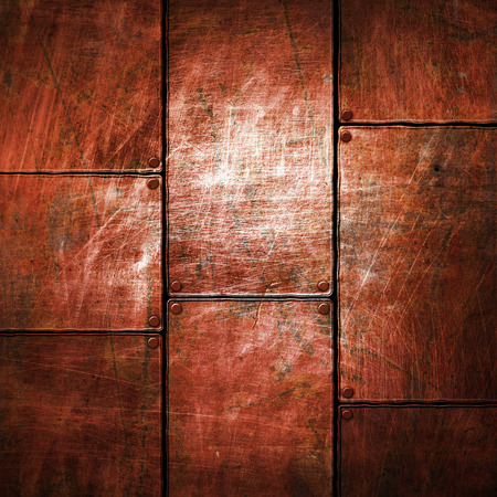grunge metal: grunge metal plate 3d illustration. background and texture. Stock Photo