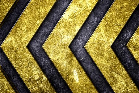 グランジ金属背景。黄色塗装と金属板のパターン。材料設計の 3 d 図です。 写真素材