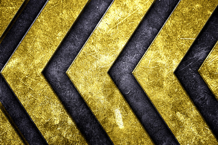 grunge metal background. pattern on metal plate with yellow painted. material design 3d illustration. Zdjęcie Seryjne - 60827897