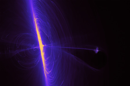 paranormal: blue purple glow energy wave. lighting effect abstract background.