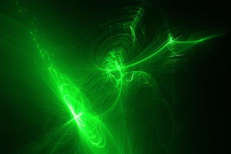 lighting effect: green glow energy wave. lighting effect abstract background.