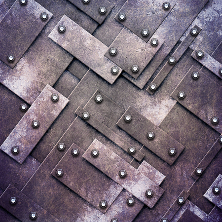 grunge metal: rusty fix wall. grunge metal background. 3d illustration.
