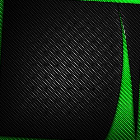 3d carbon: orange and black carbon fiber background. 3d illustration material design. racing style.