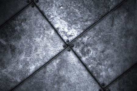 metal grunge: grunge metal background. rivet on metal plate. material design 3d illustration.