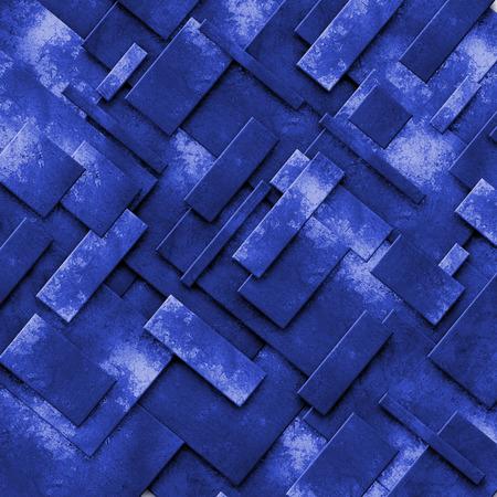 grunge metal: blue rusty fix wall. grunge metal background. 3d illustration.
