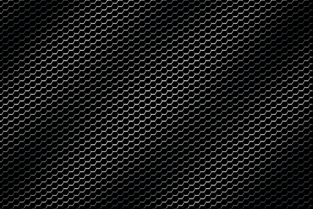 grille: black chrome grille. metal background and texture. 3d illustration.
