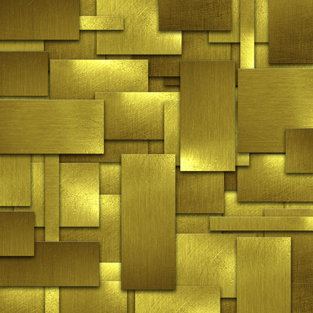 metal wall: shiny gold wall. gold background and texture. 3d illustration.