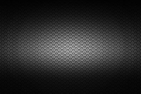 ブラック クロームの金属メッシュです。金属の背景のテクスチャ。3 d イラスト。