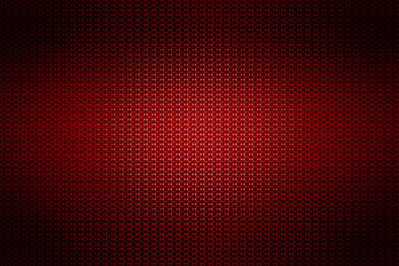 red chrome metallic mesh. metal background and texture. 3d illustration. Stock Photo