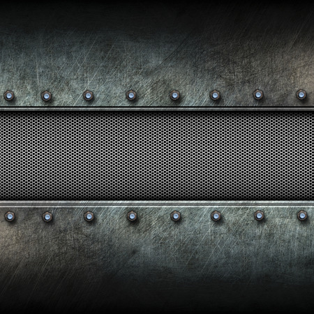 metal mesh: grunge metal background and mesh. 3d illustration. background and texture.