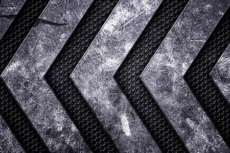 grunge metal background. black metal grille on metal plate. material design 3d illustration.