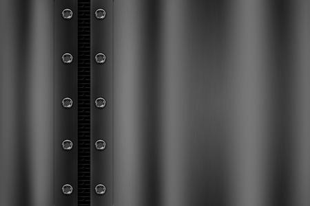 灰色の金属メッシュのリベットとクロム金属の背景。背景やテクスチャの 3 d 図です。