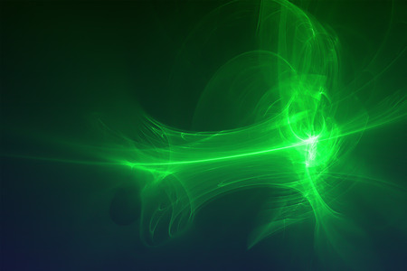 lighting effect: set 7 green glow energy wave. lighting effect abstract background.