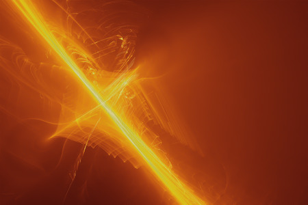 set 7 yellow glow energy wave. lighting effect abstract background. Stock Photo